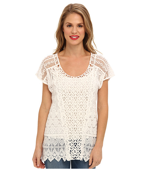 XCVI - Wildwood Top (White) Women's Blouse