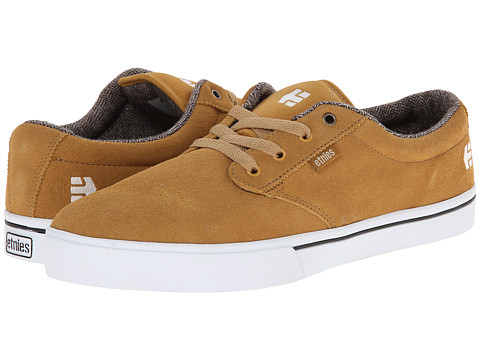 etnies - Jameson 2 (Tan/White/Gum) Men's Skate Shoes