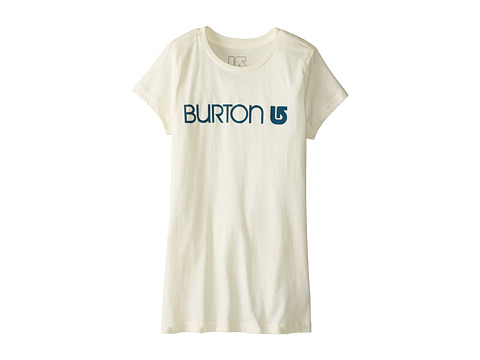 Burton Kids - Her Logo S/S Tee (Big Kids) (Vanilla) Girl