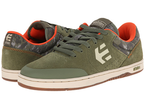 etnies - Marana (Olive) Men's Skate Shoes