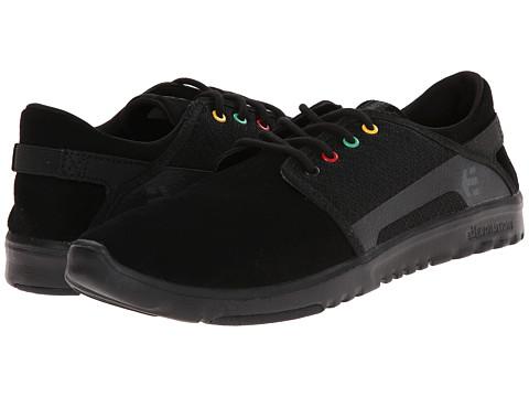 etnies - Scout (Black/Black/Grey) Men's Skate Shoes