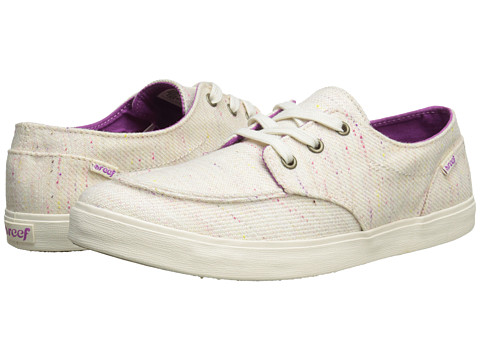 Reef - Deck Hand 2 TX (Cream Multi) Women's Lace up casual Shoes