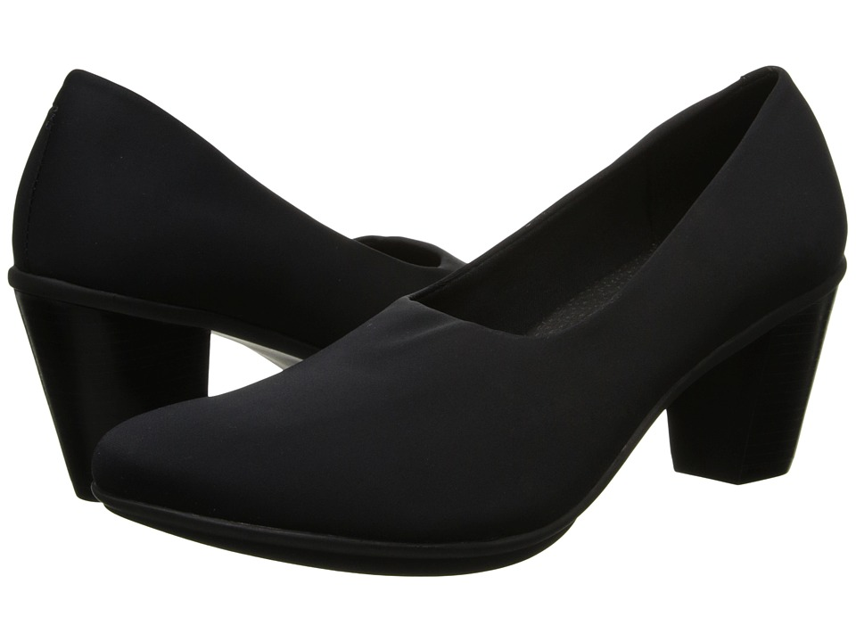 Rose Petals - Jive 2 (Black Stretch) Women's Shoes