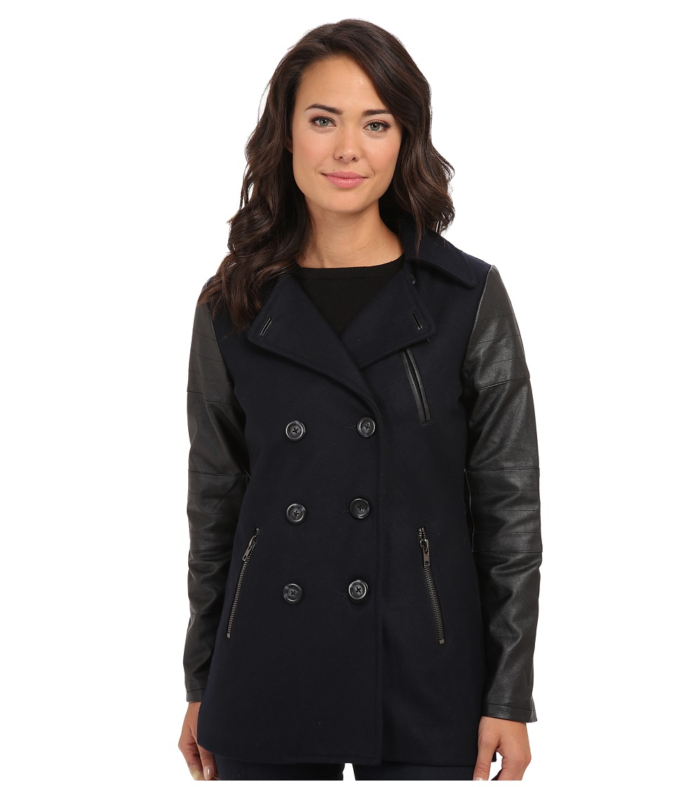 Sanctuary - Lux Peacoat (Nite Navy) Women's Coat