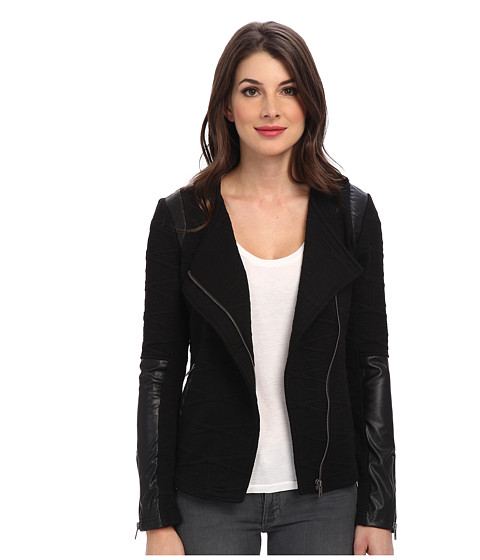 Sanctuary - Knit Racer Jacket (Black) Women's Jacket