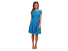 Adrianna Papell Cap Sleeve Flare Dress
