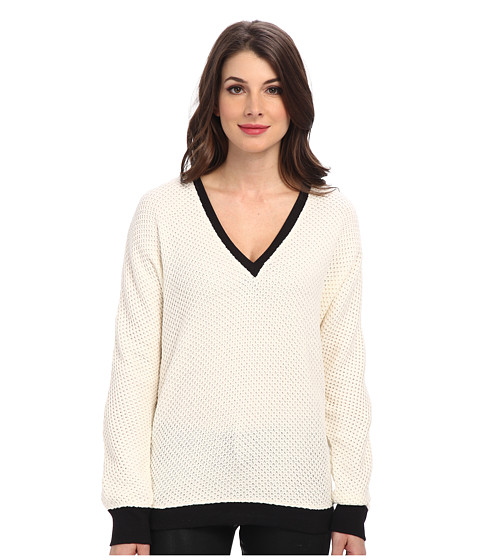 Sanctuary - Deeper Than V (Ivory/Black) Women's Sweater