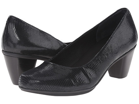 Rose Petals - Piano (Black Patent Lizard) Women's Shoes
