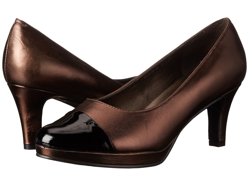 Rose Petals Plus (New Copper Nappa/Black Patent) Women
