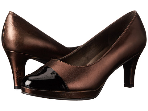 Rose Petals - Plus (New Copper Nappa/Black Patent) Women