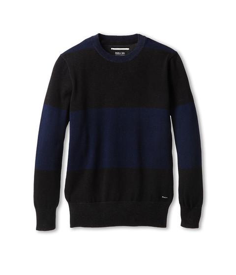 RVCA Kids - Block Plate Crew (Big Kids) (Black) Boy's Sweater