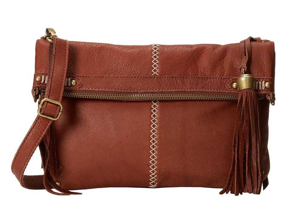 Lucky Brand - Karma Foldover Crossbody (Brandy) Cross Body Handbags