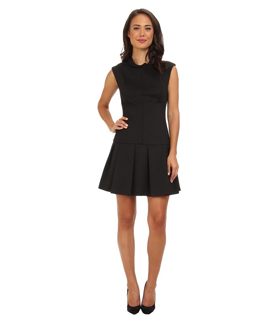 Rebecca Taylor - Sleeveless Mock Neck Stretch Dress (Black) Women