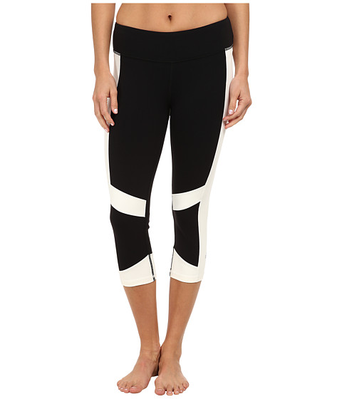 ALO - The Vortex Capri (Black/Natural) Women