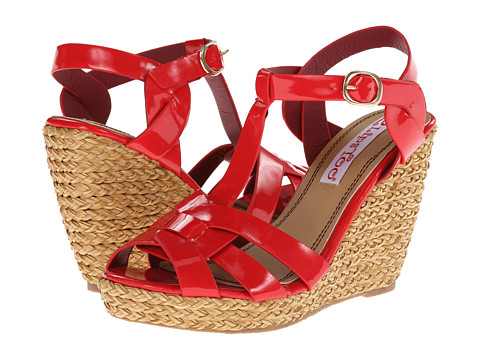 2 Lips Too Too Anchor (Red) Women's Wedge Shoes