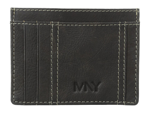 Marc New York by Andrew Marc - 2Tone Washed Credit Card Carrier (Black) Credit card Wallet