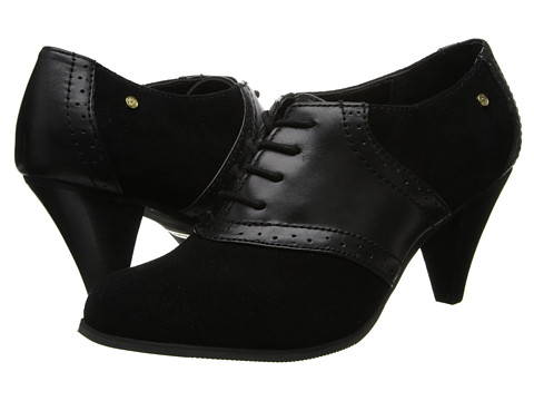Bass - Glenbrook (Black/Black Cow Suede/Atanado Leather) High Heels