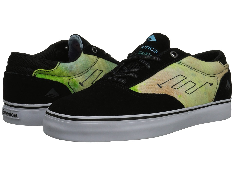 Emerica - Provost X Toy Machine (Black/Blue/White) Men's Skate Shoes