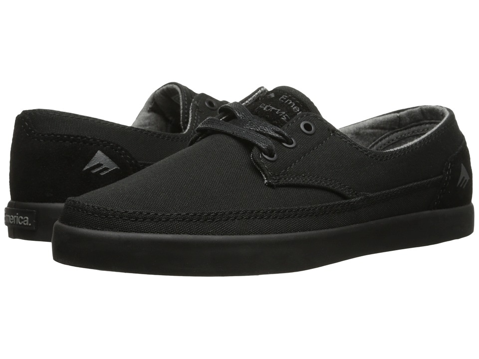Emerica - The Romero Troubadour Low (Black/Black) Men's Skate Shoes