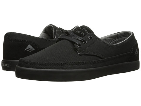 Emerica - The Romero Troubadour Low (Black/Black) Men's Skate Shoes