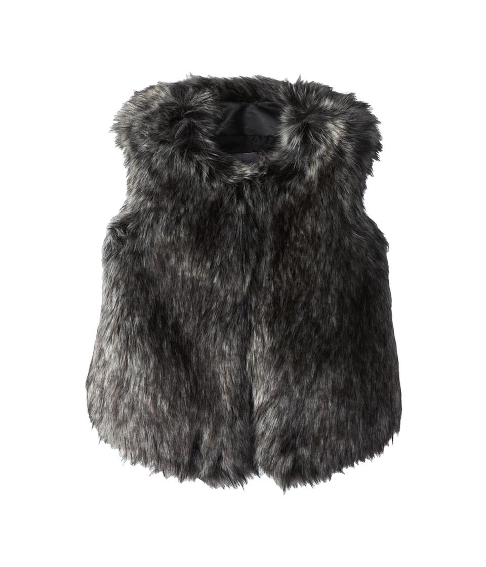 Vince Kids - Faux Fur Vest (Little Kids) (Black) Girl's Vest