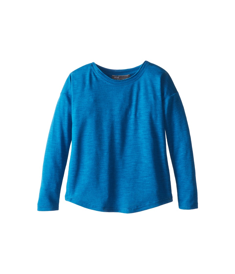 Vince Kids - L/S Space Dye Roll Neck (Little Kids) (Celestial Heather) Girl's Long Sleeve Pullover