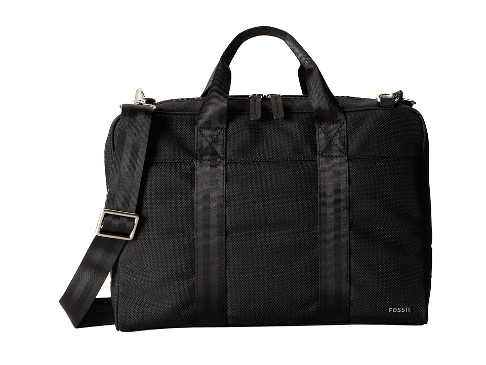 Fossil - Mercer Work Brief (Black) Briefcase Bags