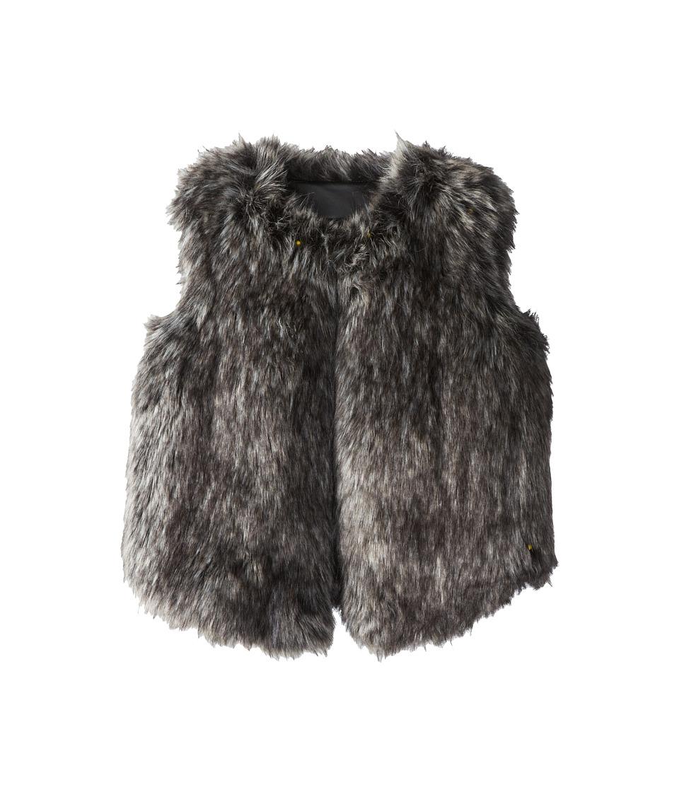 Vince Kids - Faux Fur Vest (Big Kids) (Black) Girl's Vest