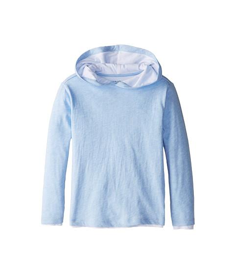 Vince Kids - L/S Double Layer Hoodie (Little Kids) (Blue Ice Heather) Boy's Sweatshirt