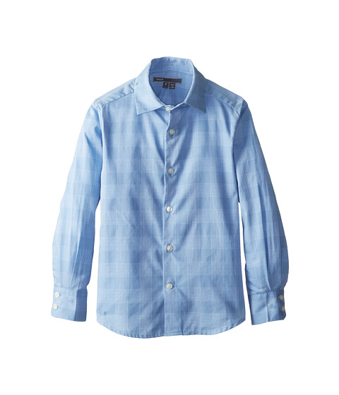 Vince Kids - Dobby Button Down (Little Kids) (Mist Blue) Boy's Long Sleeve Button Up