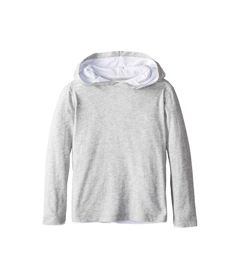 Vince Kids - L/S Double Layer Hoodie (Little Kids) (Heather Grey) Boy's Sweatshirt