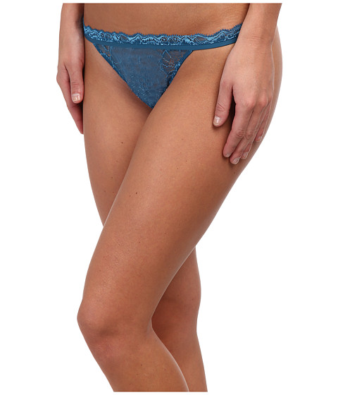 Calvin Klein Underwear - CK Black Thong (Delta River) Women