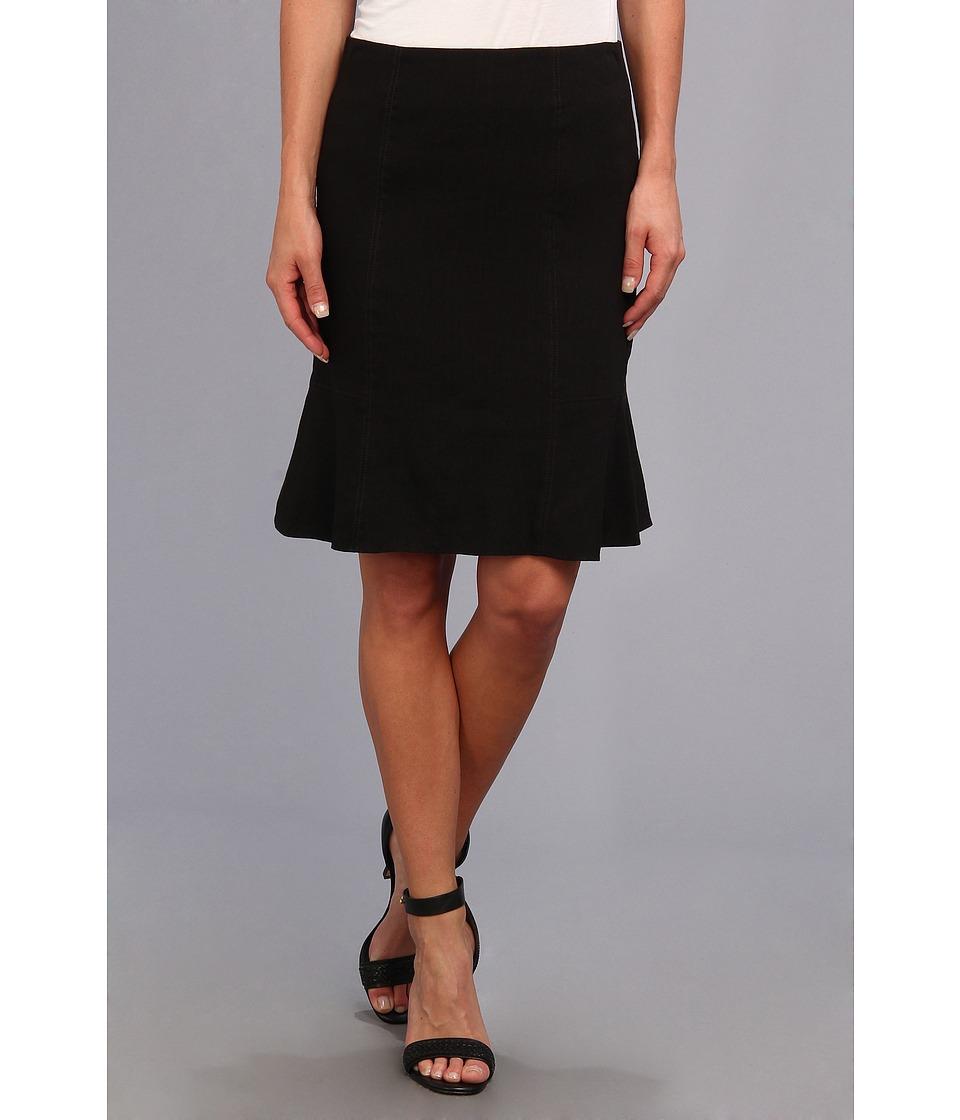 Rebecca Taylor - Stretch Linen Skirt (Black) Women's Skirt