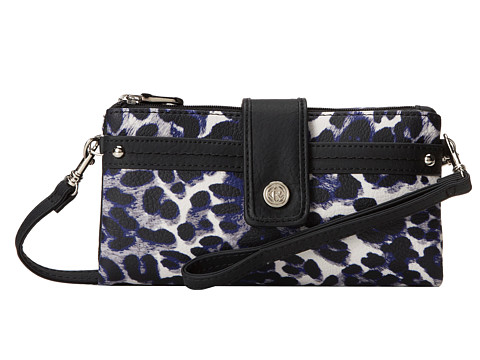 Relic - Vicky Checkbook (Black/Blue) Clutch Handbags