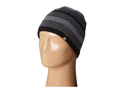 adidas - Half Pipe Reversible Beanie (Black/Bold Onyx/Medium Grey Heather) Beanies