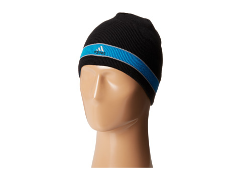 adidas - Stagger Reversible Beanie (Black/Solar Blue/Grey) Beanies
