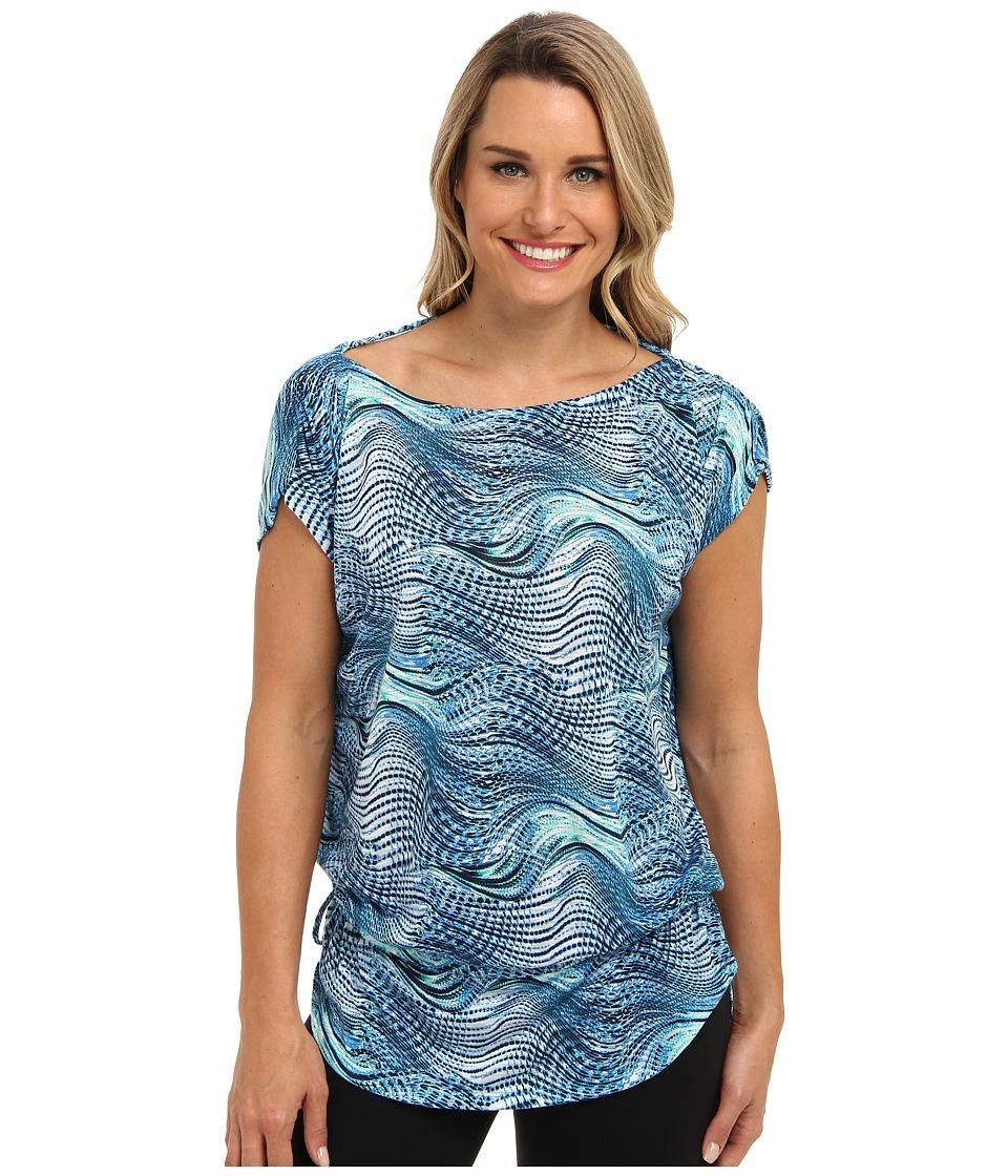 Tail Activewear - Willow Dolman Sleeve Top (Seascape) Women's Short Sleeve Knit