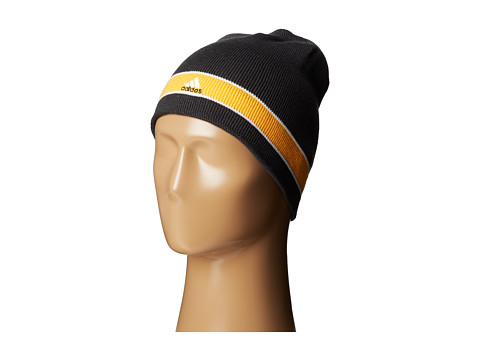 adidas - Stagger Reversible Beanie (NIght Grey/Solar Gold/White) Beanies