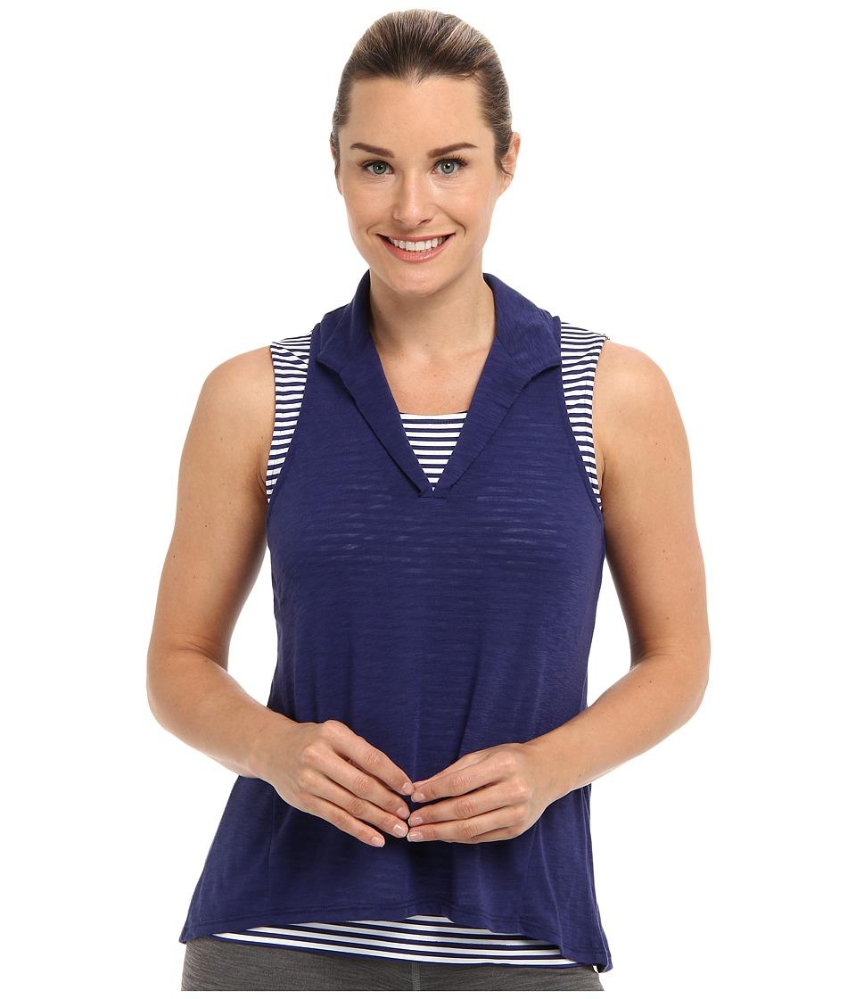 Tail Activewear - Isla Slub Jersey Racerback Top (Lakestorm) Women's Sleeveless