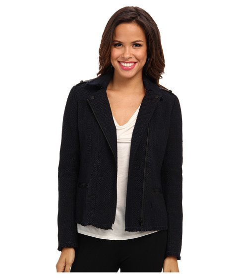 NYDJ - Tweed Moto Jacket (Peacoat) Women's Coat