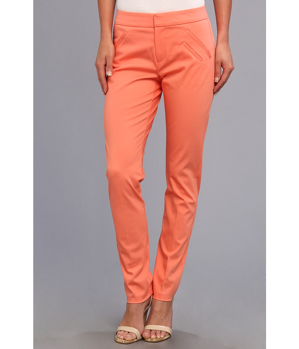 Christin Michaels - Ankle Pant with Angle Slit Pockets (Coral) Women's Casual Pants