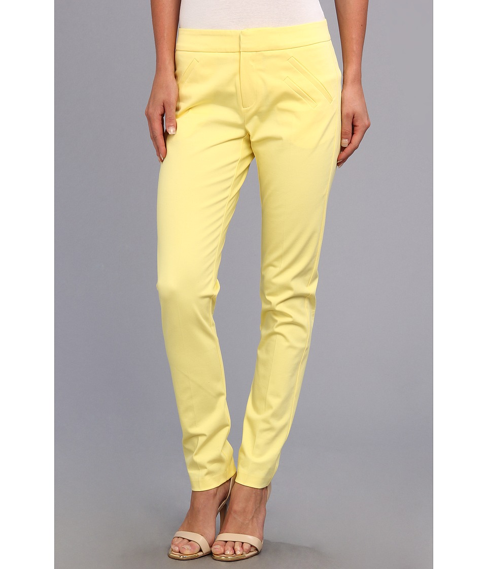 Christin Michaels - Ankle Pant with Angle Slit Pockets (Butter) Women's Casual Pants