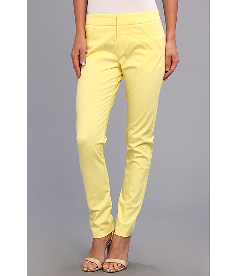 Christin Michaels - Ankle Pant with Angle Slit Pockets (Butter) Women