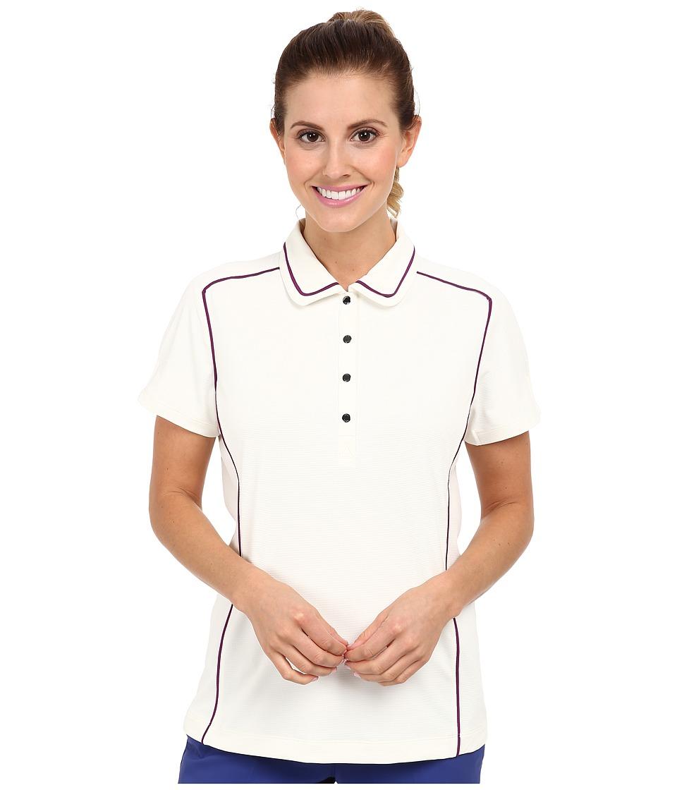 Tail Activewear - Shelly Performance Polo (Vanilla) Women's Short Sleeve Knit