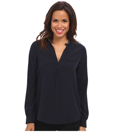 NYDJ - Studded Trim Woven Blouse (Peacoat) Women