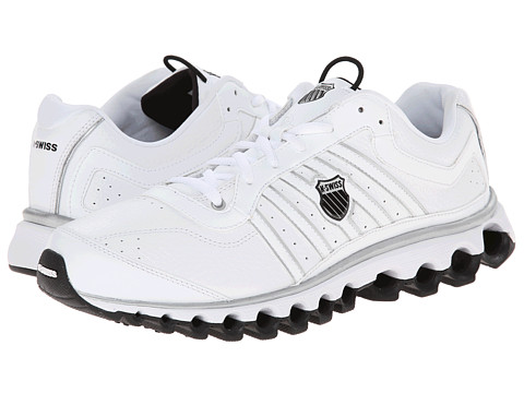 K-Swiss - Tubes 150 L (White/Silver/Black) Men's Running Shoes