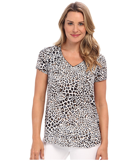 NYDJ - S/S Cheetah Print Blouse (Multi) Women