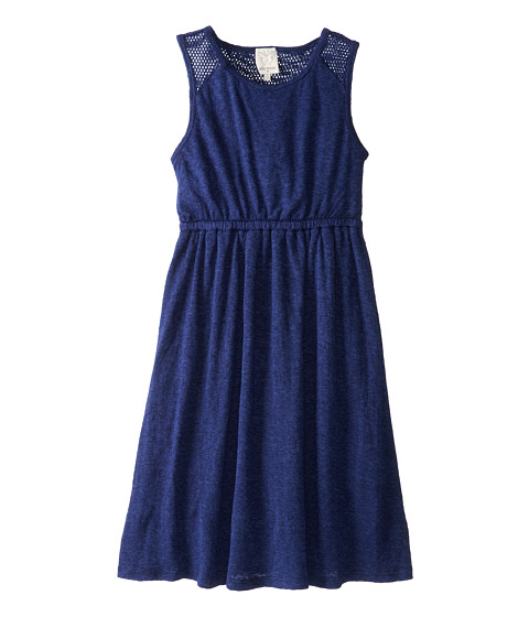 Ella Moss Girl - Mesh Mix Tank Dress (Big Kids) (Navy) Girl