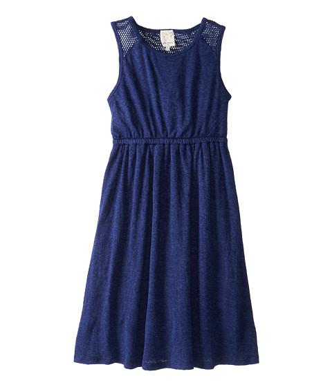 Ella Moss Girl - Mesh Mix Tank Dress (Big Kids) (Navy) Girl