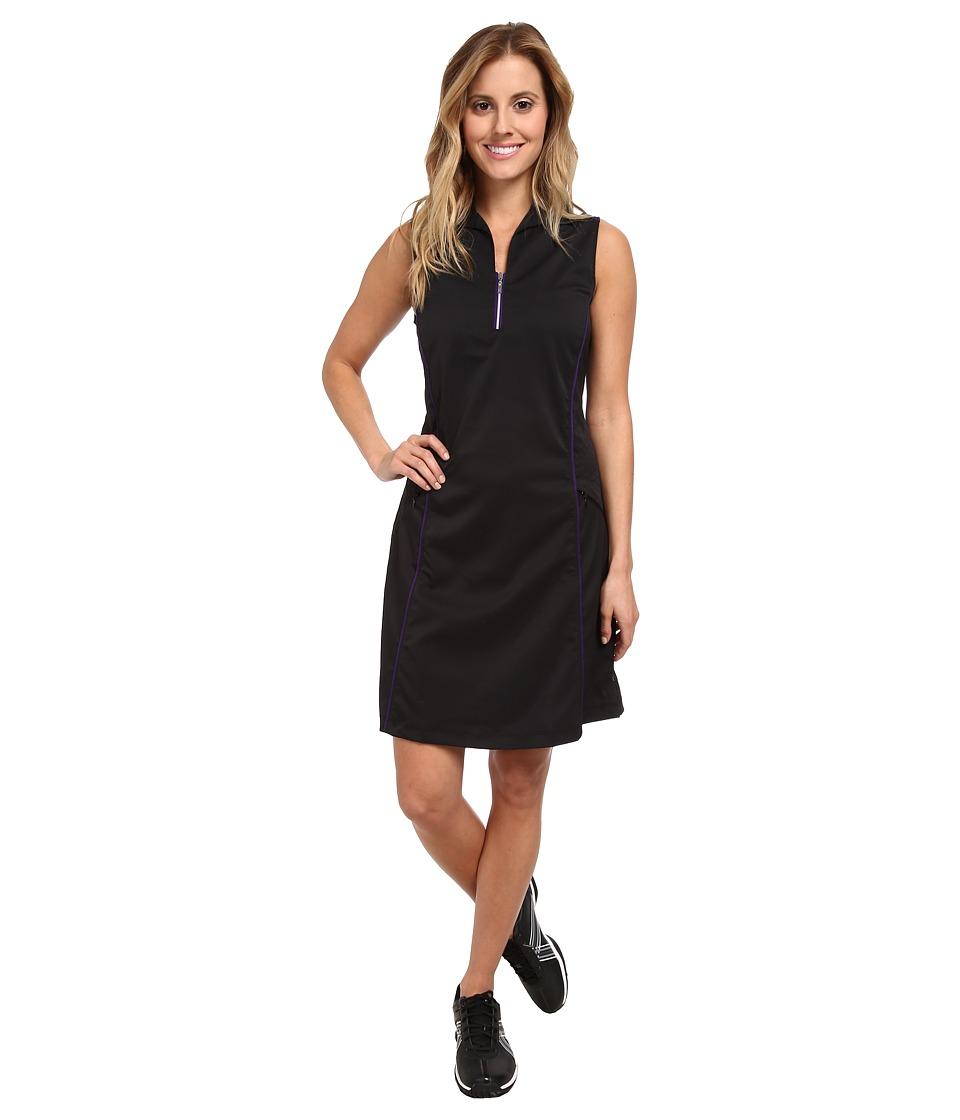 Tail Activewear - Bethany Dress (Black/Purple) Women's Dress
